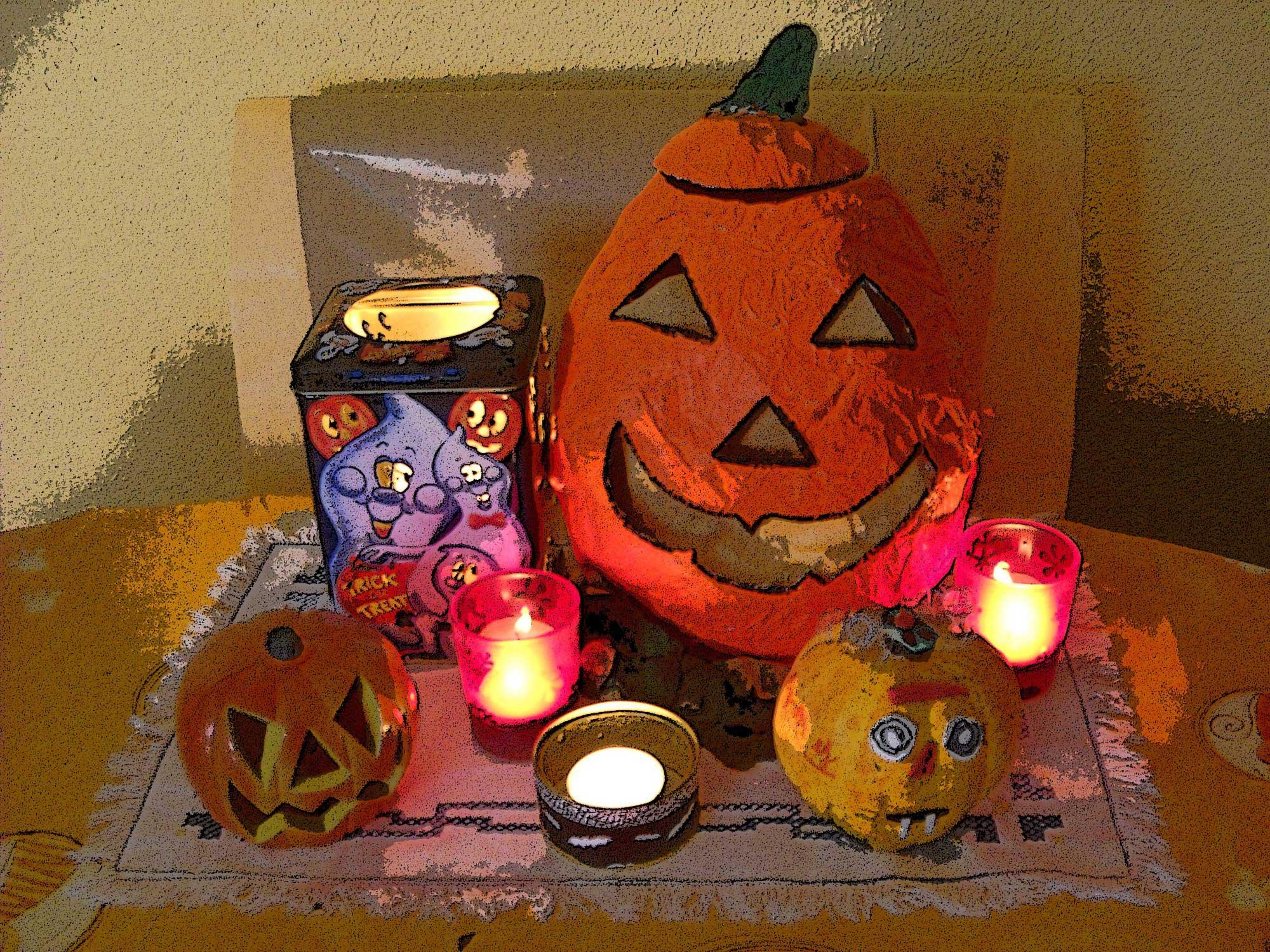 Halloween manualidades para ni os calabazas de halloween - Decorar calabazas para halloween infantiles ...