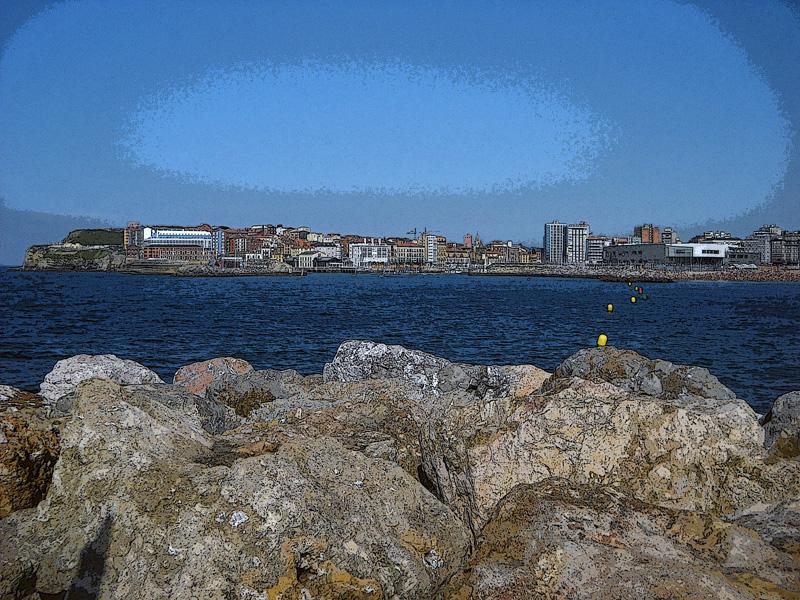 Playa de Poniente Gijón